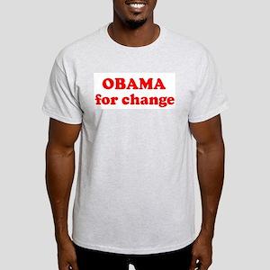 OBAMA for change  Light T-Shirt