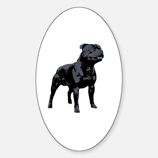 Cute Staffy Sticker (Oval)