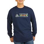 Vietnam Veteran Dog Tags Long Sleeve T-Shirt