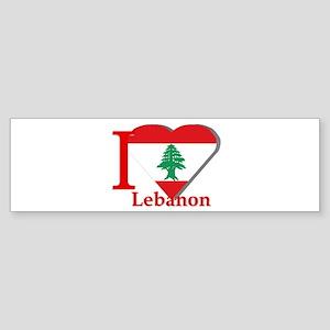 I love Lebanon Bumper Sticker