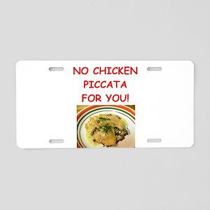 chicken piccata Aluminum License Plate
