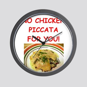 chicken piccata Wall Clock