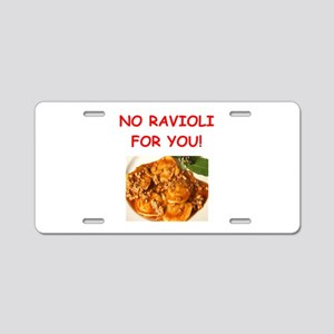 ravioli Aluminum License Plate
