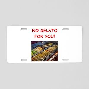 gelato Aluminum License Plate