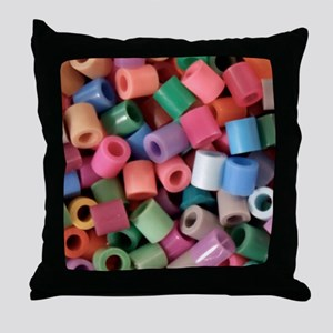Plastic Craft Beads - Crafty Throw Pillow