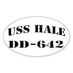 USS HALE Sticker (Oval)