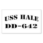 USS HALE Sticker (Rectangle)