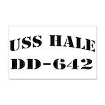 USS HALE 20x12 Wall Decal