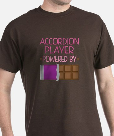 Accordion player powered by chocolate T-Shirt