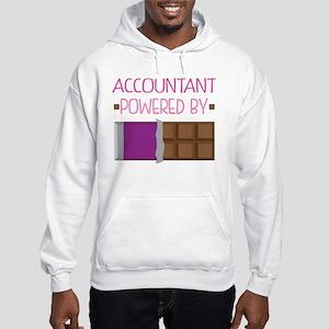 Accountant powered by chocolate Hooded Sweatshirt