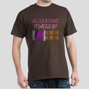 Accountant powered by chocolate Dark T-Shirt