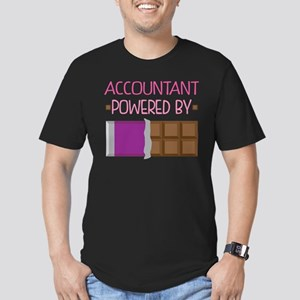 Accountant powered by Men's Fitted T-Shirt (dark)
