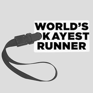 Worlds Okayest Runner - Black Print Luggage Tag