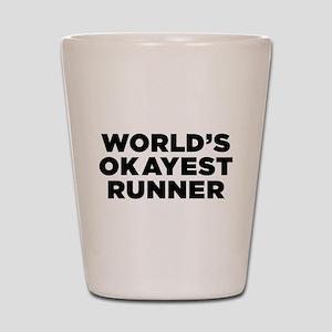 Worlds Okayest Runner - Black Print Shot Glass