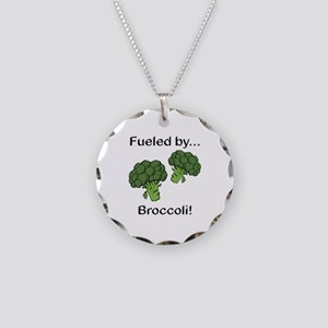 Fueled by Broccoli Necklace Circle Charm