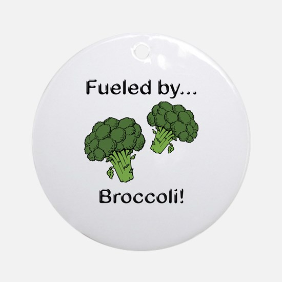 Fueled by Broccoli Ornament (Round)