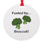 Fueled by Broccoli Round Ornament
