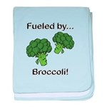 Fueled by Broccoli baby blanket