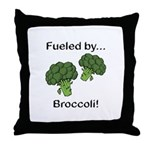 Fueled by Broccoli Throw Pillow