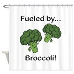 Fueled by Broccoli Shower Curtain