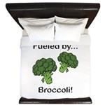 Fueled by Broccoli King Duvet