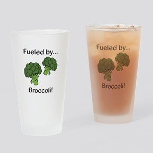 Fueled by Broccoli Drinking Glass