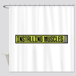 Installing muscles workout Ch1sq Shower Curtain