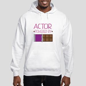 Actor powered by chocolate Hooded Sweatshirt