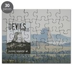 Devils Tower Stamp with background Puzzle