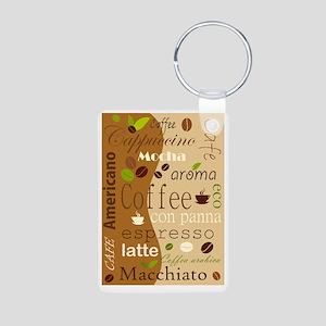 Coffee Aluminum Photo Keychain