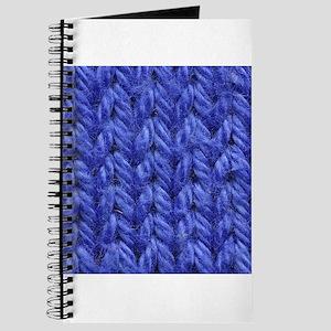 Knitting - Blue Knit Fabric Journal