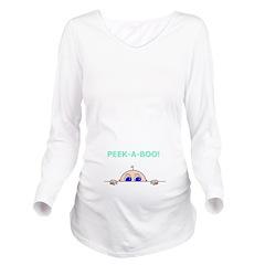 PEEK A BOO! Long Sleeve Maternity T-Shirt