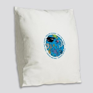 LUVROCEANS Burlap Throw Pillow