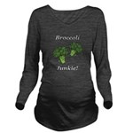 Broccoli Junkie Long Sleeve Maternity T-Shirt