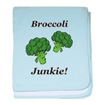 Broccoli Junkie baby blanket