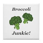 Broccoli Junkie Tile Coaster