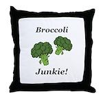 Broccoli Junkie Throw Pillow