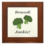 Broccoli Junkie Framed Tile