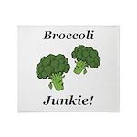 Broccoli Junkie Throw Blanket