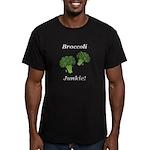 Broccoli Junkie Men's Fitted T-Shirt (dark)