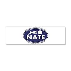 NATE logo Car Magnet 10 x 3