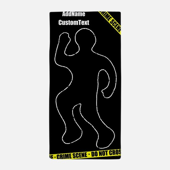 Funny Crime Scene Beach Towel