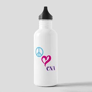 Peace Love CNA Water Bottle