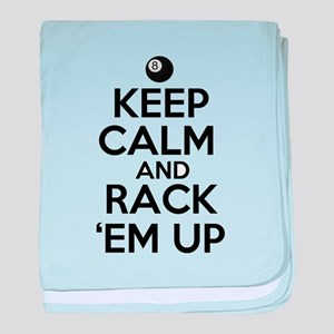 Keep Calm and Rack Em Up baby blanket
