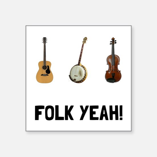 """Funny Country music Square Sticker 3"""" x 3"""""""