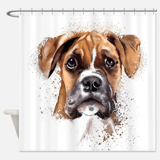 Boxer Painting Shower Curtain