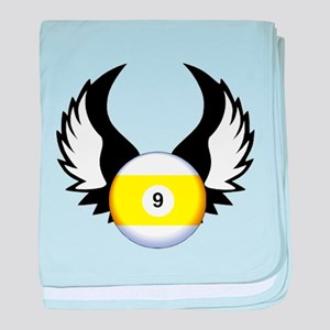 9 Ball with Wings baby blanket