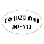 USS HAZELWOOD Sticker (Oval)