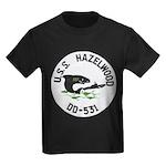 USS HAZELWOOD Kids Dark T-Shirt