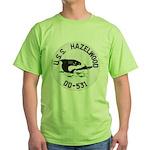 USS HAZELWOOD Green T-Shirt